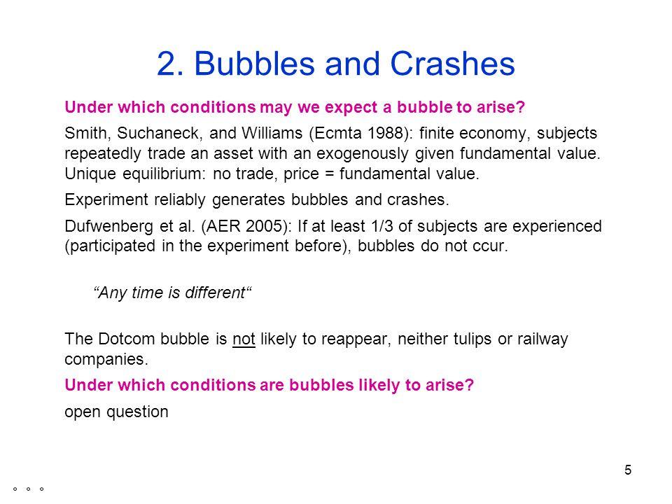 6 Bubbles and Crashes When do bubbles burst.Abreu & Brunnermeier (Ecmta.