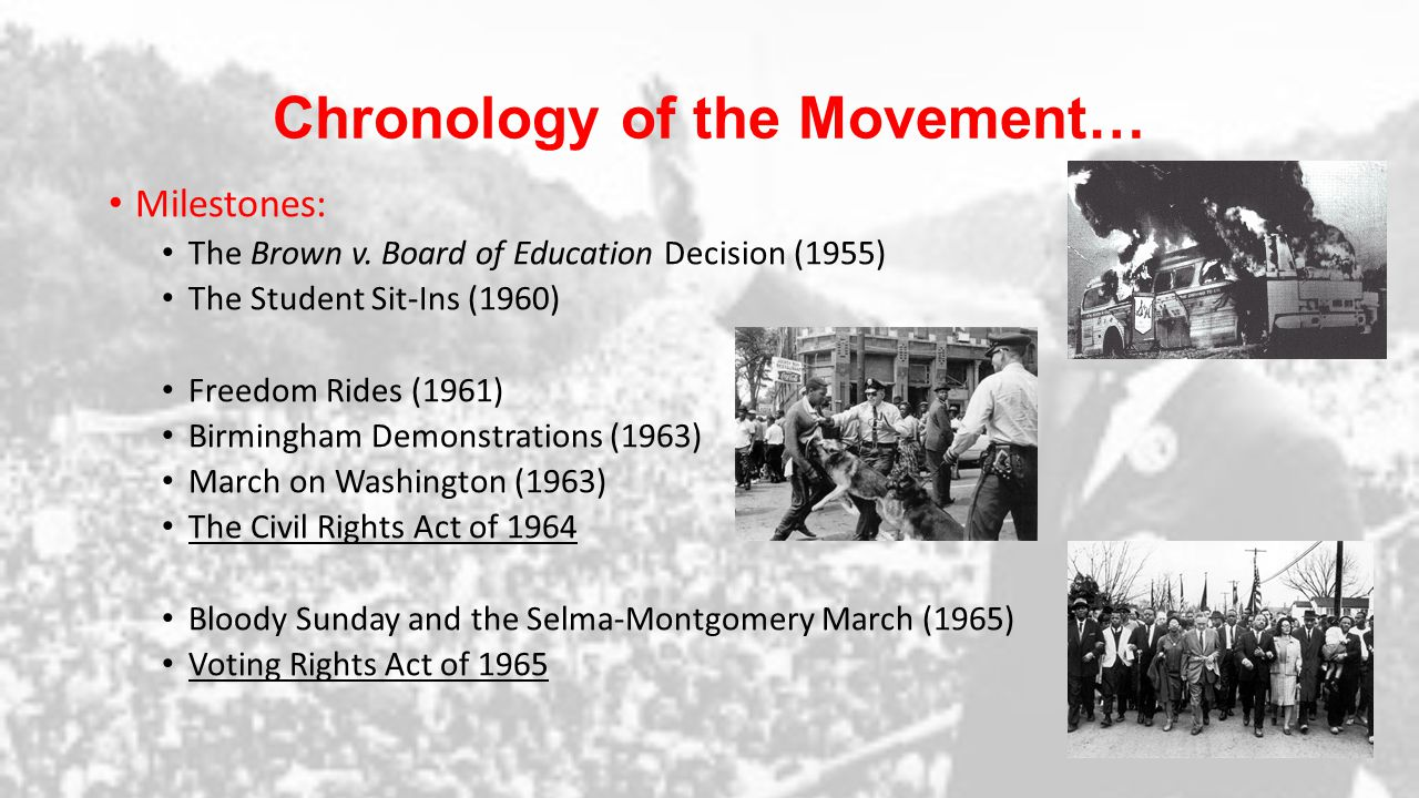 The Unfinished Movement… Riots across the nation (1965 – 68) - Watts, Newark, Cleveland, Detroit and Washington D.C… Dr.