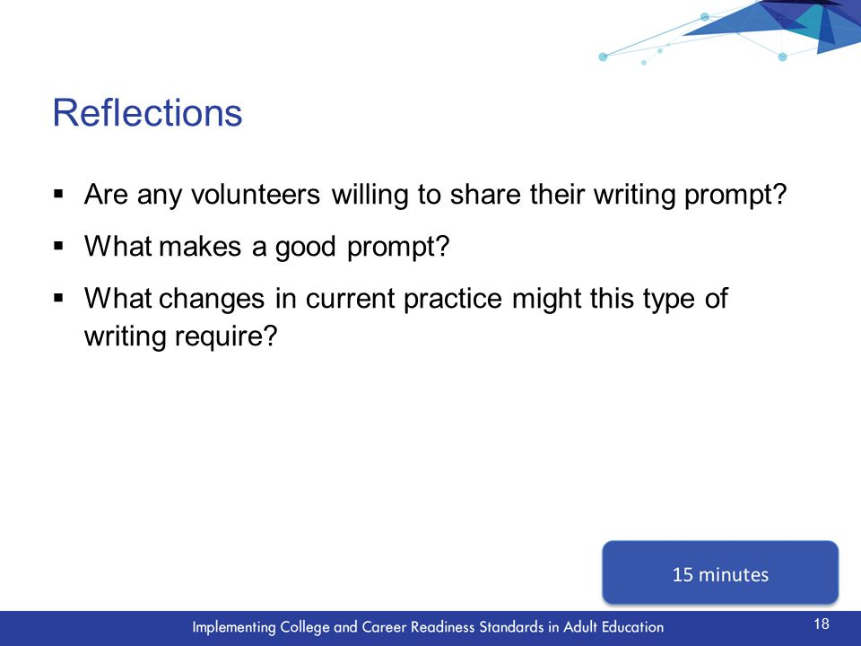 Next Steps  How has participating in this activity changed your thinking about the CCR Standards.