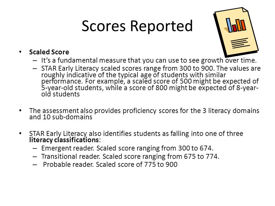 Early Literacy: Planning Instruction and Diagnosing Difficulties As a criterion-referenced test, STAR Early Literacy provides proficiency data on specific skills.