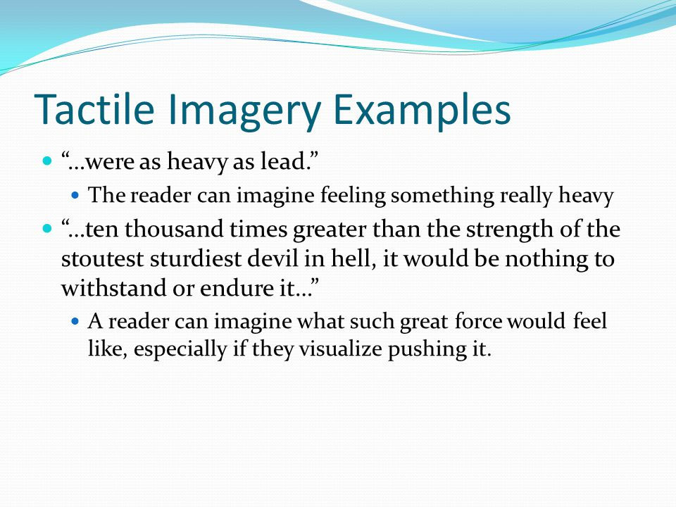 Olfactory Imagery Olfactory imagery refers to imagery related to smell.