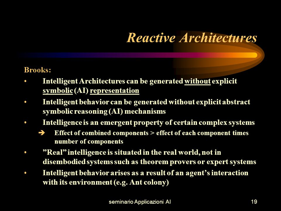 seminario Applicazioni AI20 Reactive sub-sumption Architectures