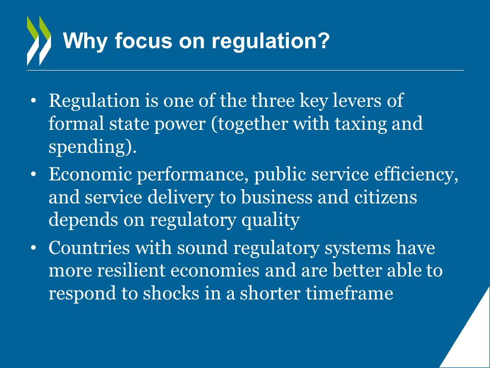 Importance of regulatory policy Possibilities of monetary stimulus exhausted Public finances are in need of gradual consolidation The urgency of growth-enhancing structural reforms has arguably increased
