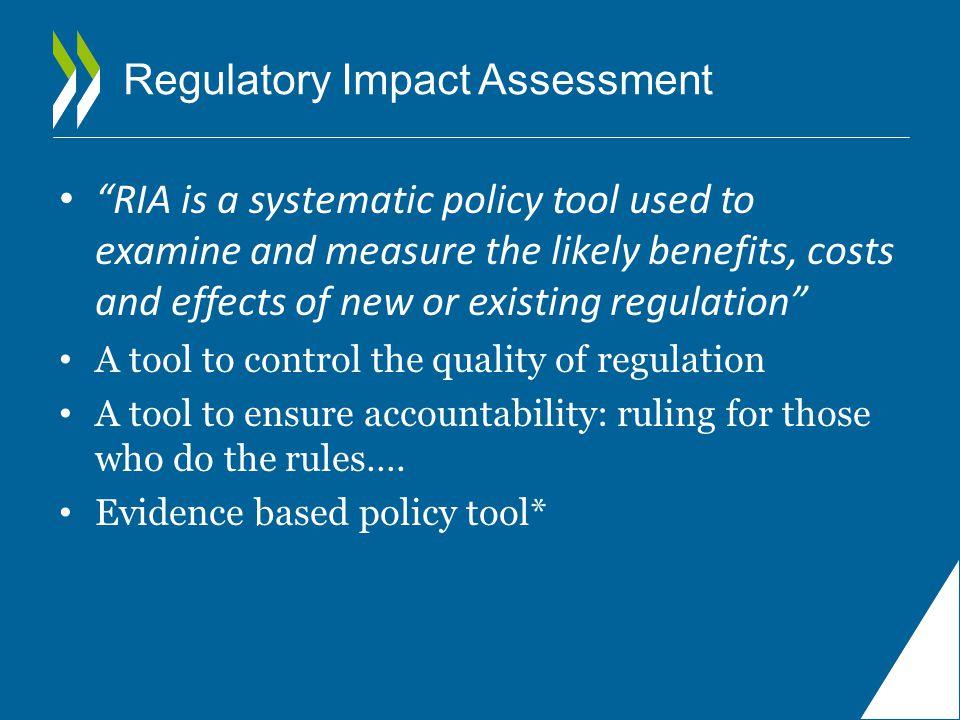 I.The context for RIA: c.