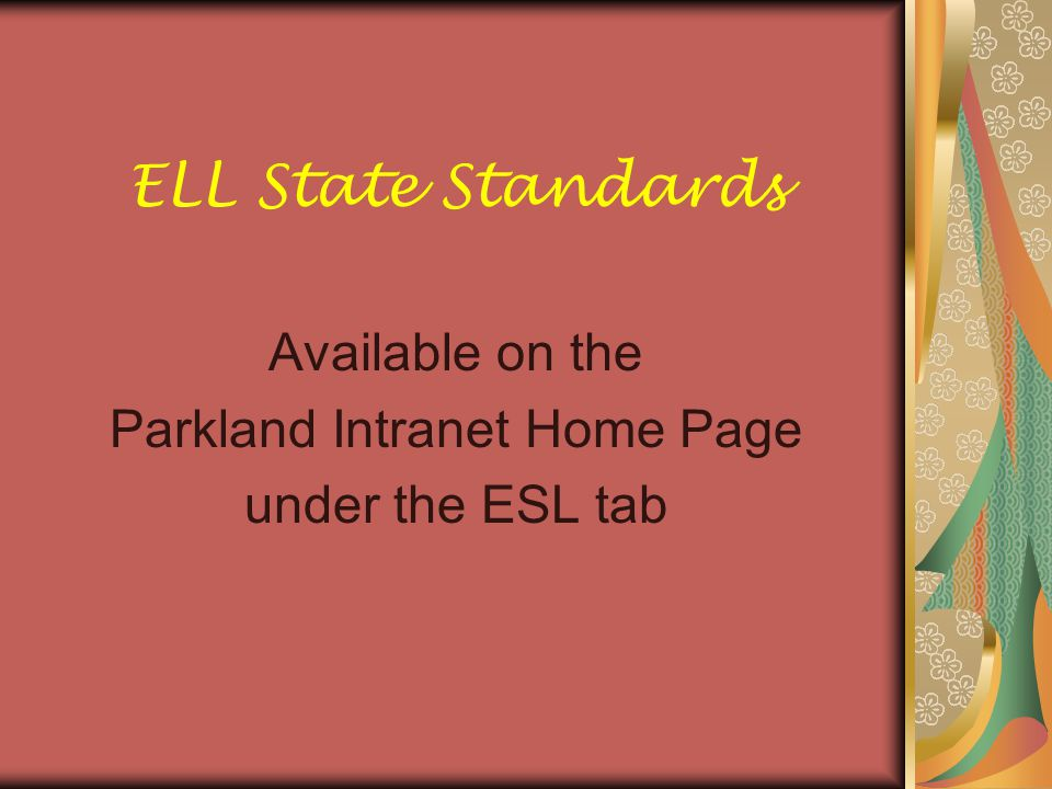 PSSA for ELLs 1.All ELL students must take the math and science PSSA tests.