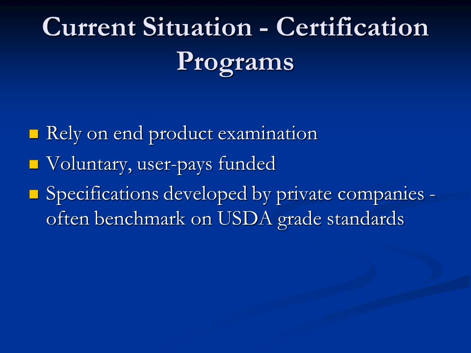 AMS Certification Programs