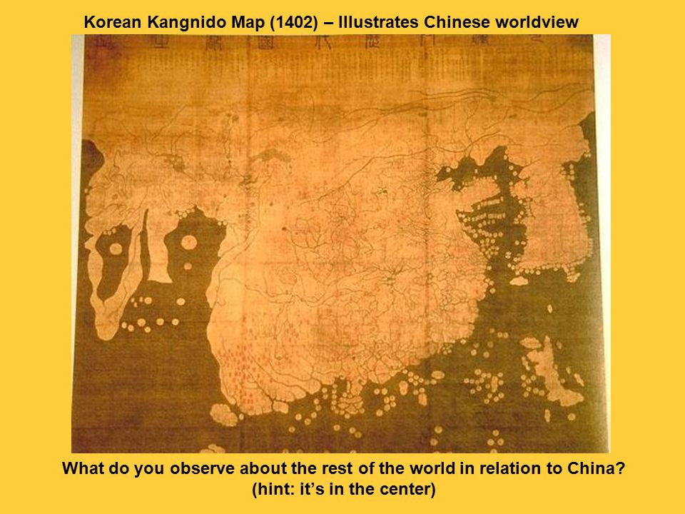 China Korea Africa Middle East Europe Zhong guo - Middle Kingdom As the Middle Kingdom, China was the cultural and political center of the world.