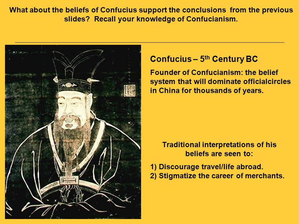 Confucian Beliefs Regarding Merchants – If one is guided by profit in one's action, one will incur much ill will.