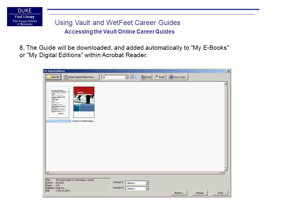 Using Vault and WetFeet Career Guides Conclusion: Common Gotchas and Questions Why am I getting an error message: You must access X from your affiliate site .