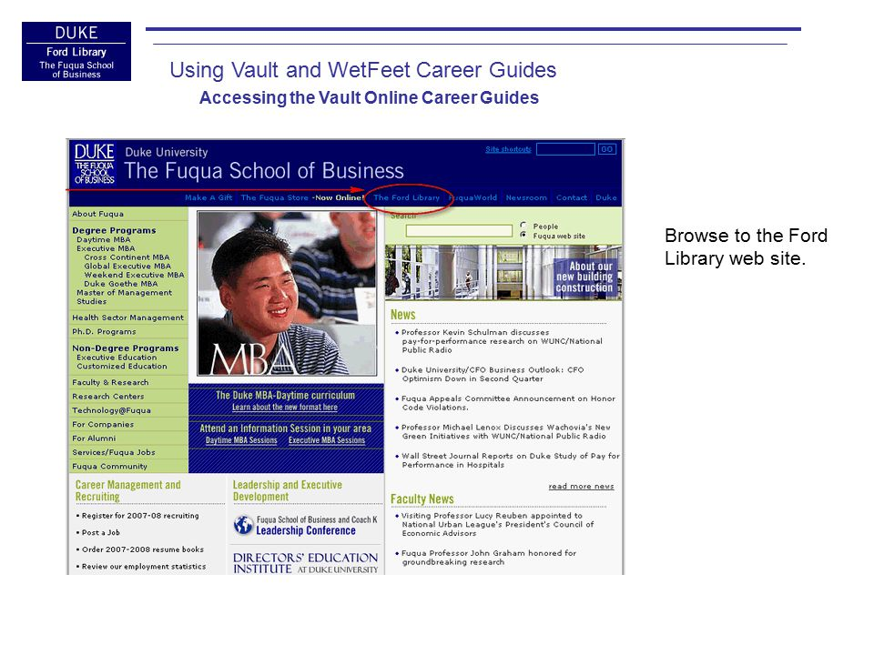 Click the Career Tools Link.