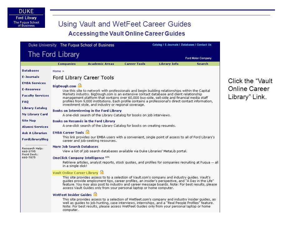 1.Review the directions on our Vault Connect page, paying particular attention to Steps 4 and 5.