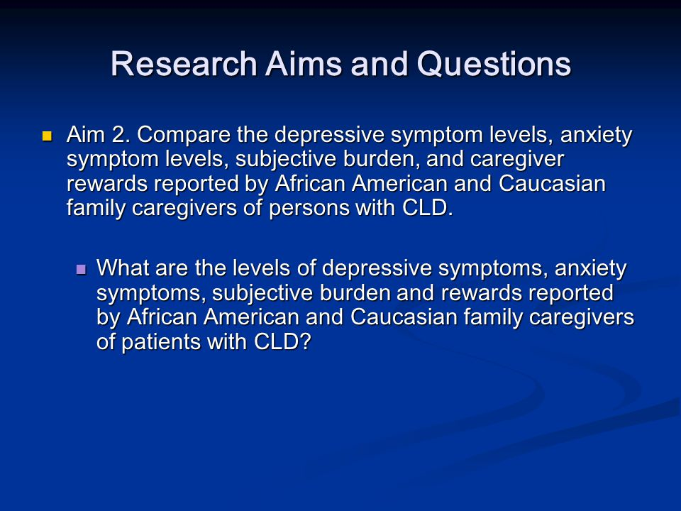 Research Aims and Questions Aim 3.