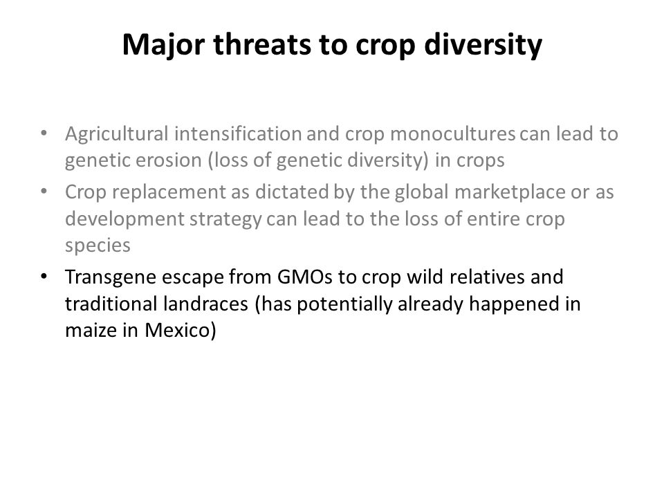 Interspecific crop Diversity in the Compositae Interspecific crop diversity in the Compositae