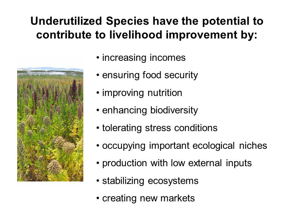 Conserving Crop Genetic Diversity in – situ conservationex – situ conservationvs.