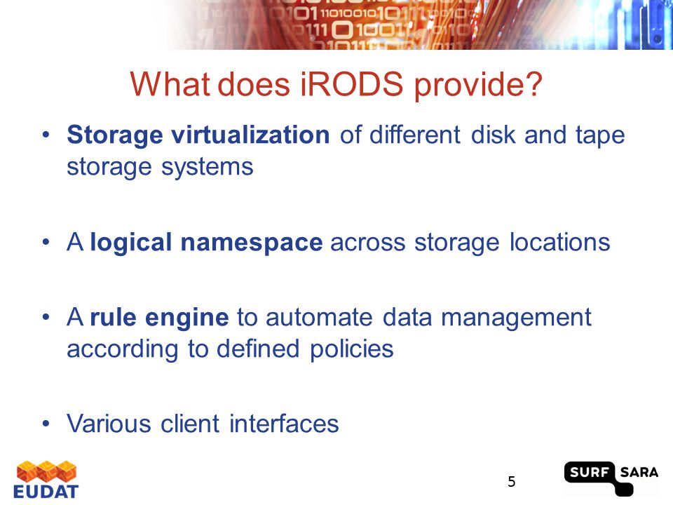iRODS Components 6