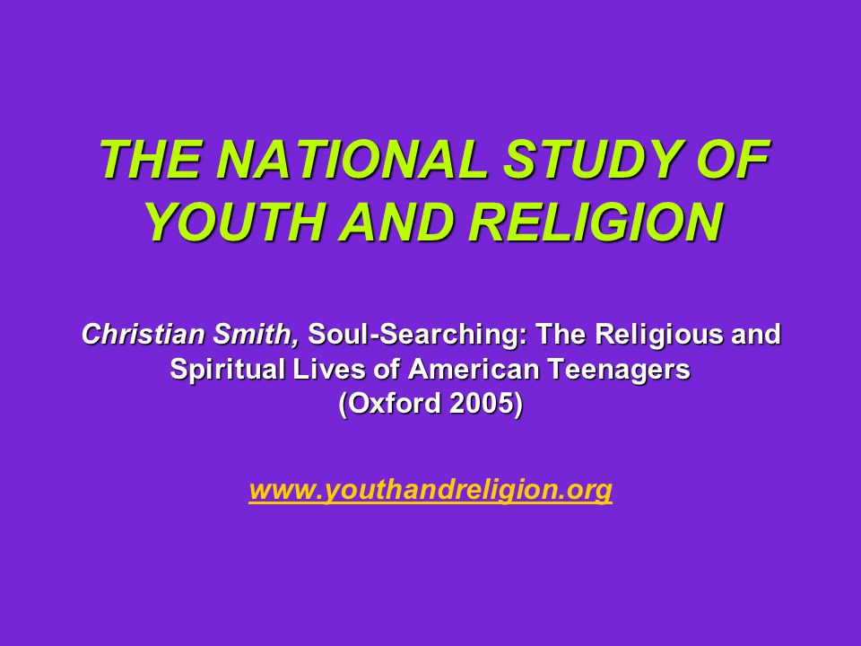 Most consistent findings: Teenagers aren't hostile toward religion.