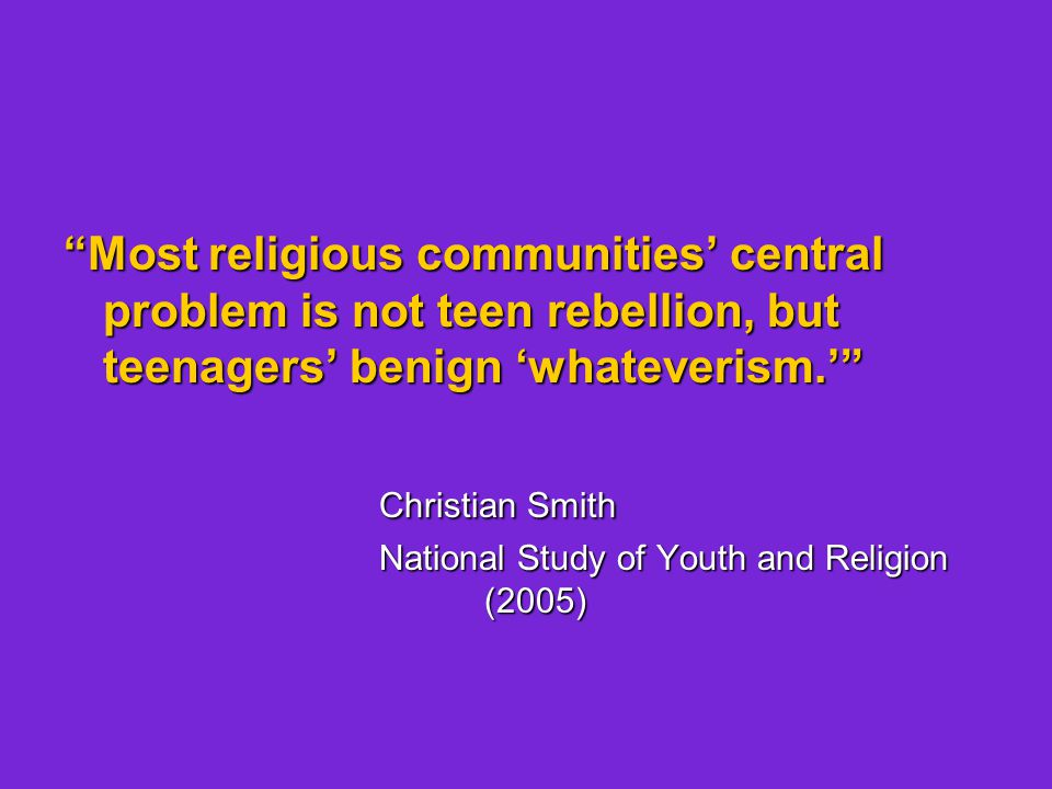 Most commonly shared findings across contexts: Teenagers aren't hostile toward religion.
