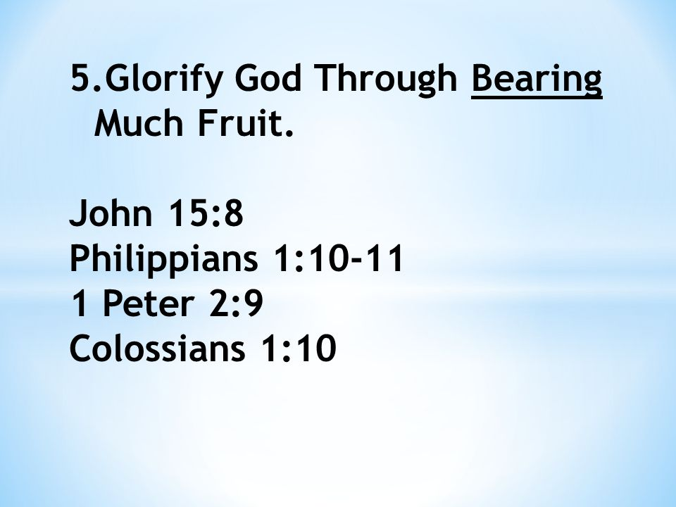 Spiritual fruit is evidence to the world of the results of an obedient life.