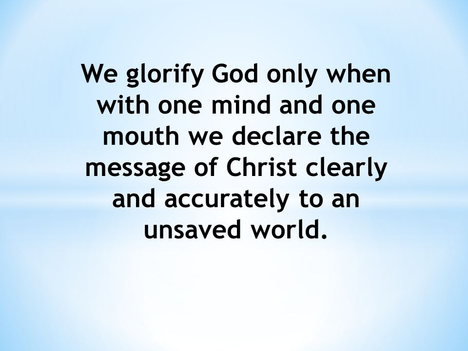 B.HOW TO ENJOY GOD When we live to glorify God, He responds by giving us overwhelming joy.