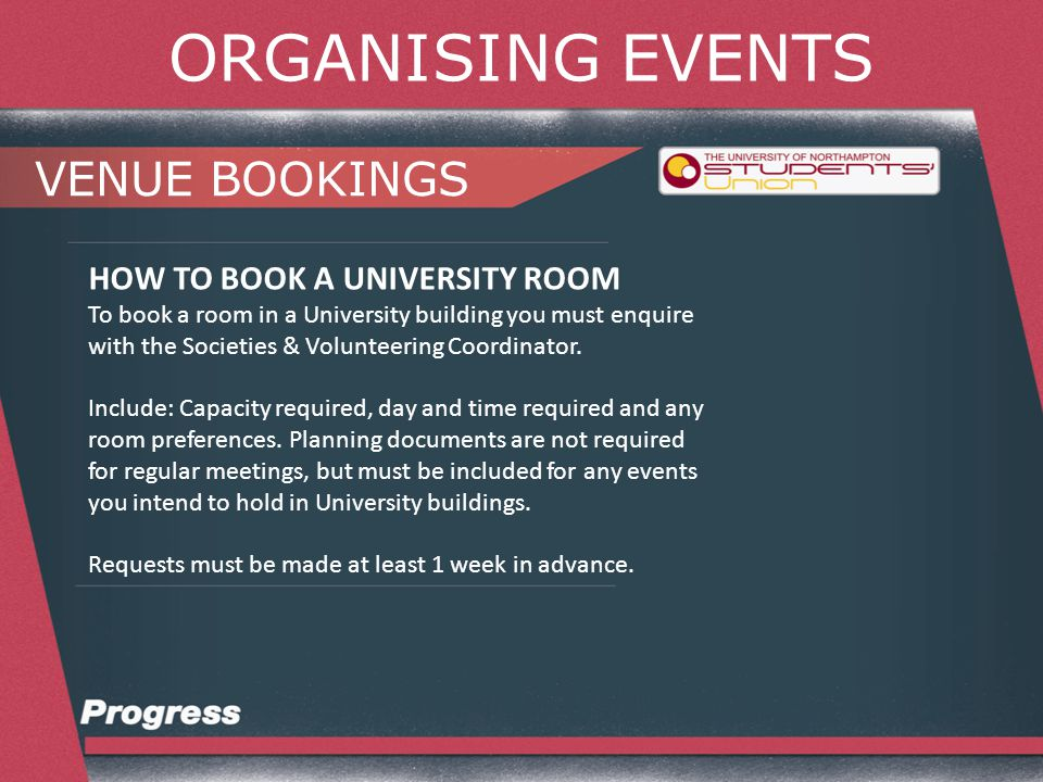 ORGANISING EVENTS ANY QUESTIONS.