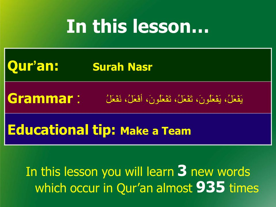 26,257 78,000 By the end of this lesson, we will learn 56 words, which occur in Qur'an almost 26,257 times There are 4,500 words in Qur'an which are repeated almost 78,000 times