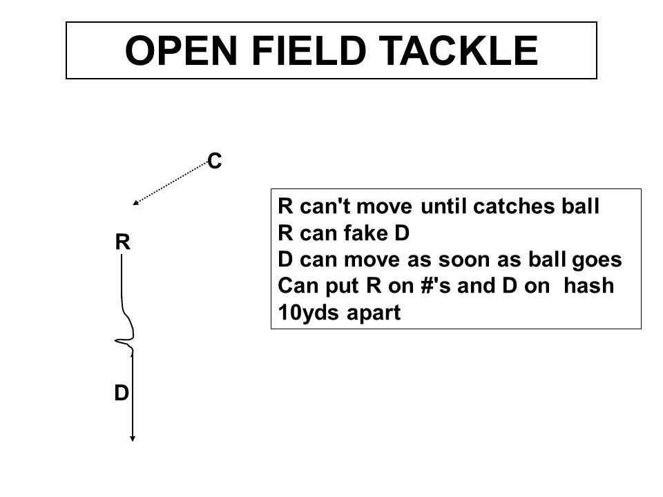 R D C SHED TACKLE RB