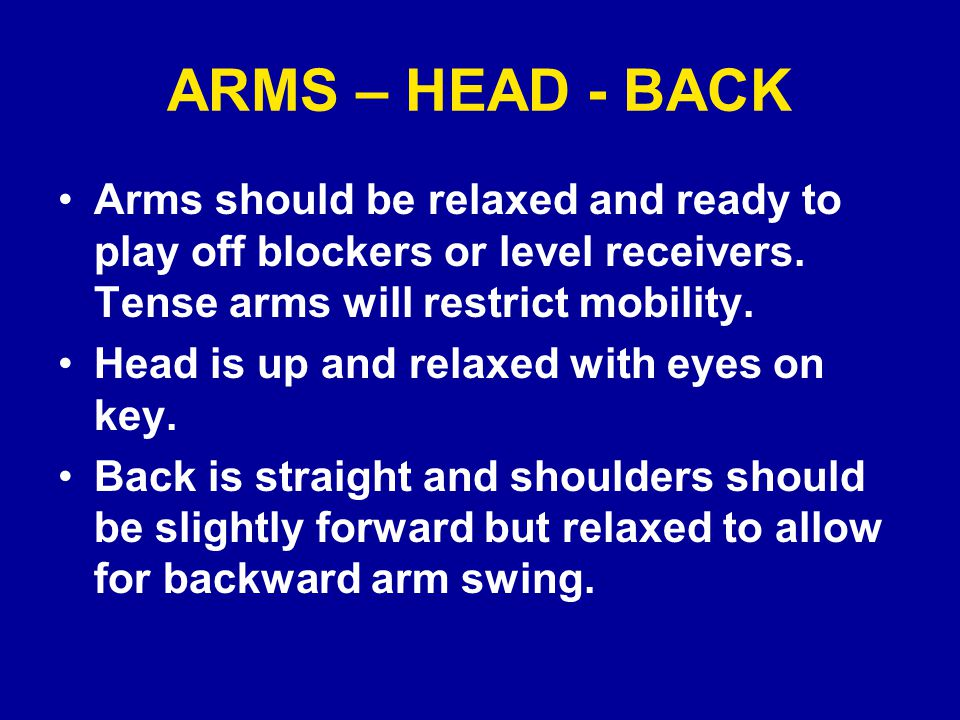BACKWARD MOVEMENT Every DB must make a smooth transition from a stationary position to acceleration while retreating.