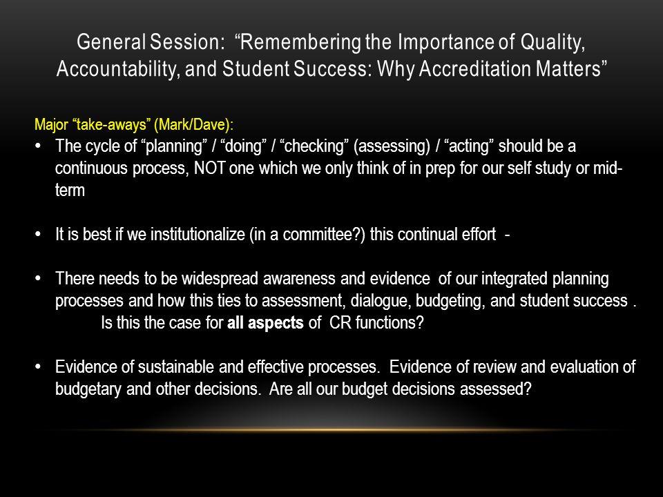Breakout Session: Substantive Change Reports Major take-aways (Mark): Dr.
