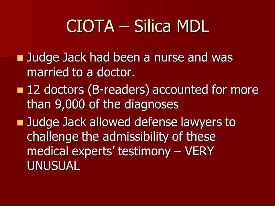 CIOTA – Silica MDL Dr.M Dr.