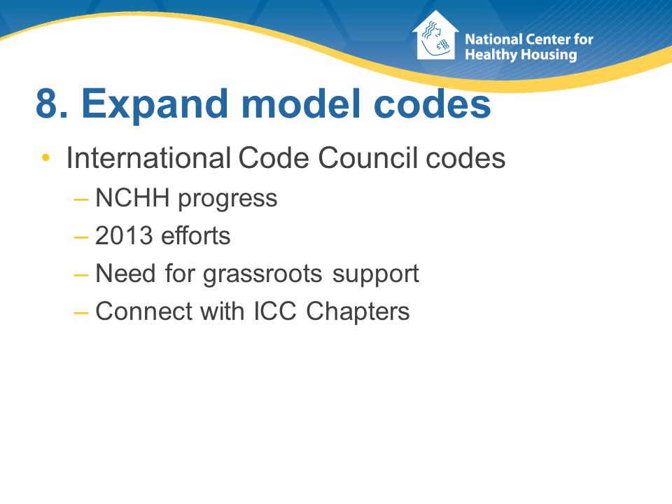 Impact of ICC's Model Codes Code State-Wide As Published by ICC State-Wide with Modifications Local Use Only Total Building Code (IBC)3512350 Residential Code (IRC)338849 Mechanical Code (IMC)299846 Plumbing (IPC)2041337 Property Maint.