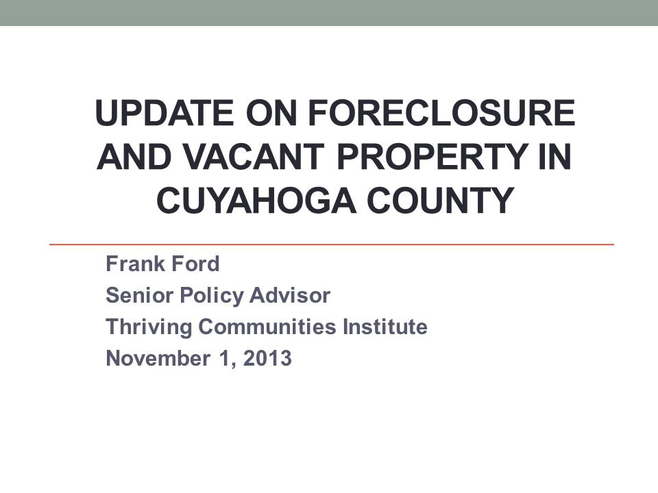Mortgage foreclosures peaked in 2007, dropped through 2011, rose in 2012, and now dropped dramatically in 2013.