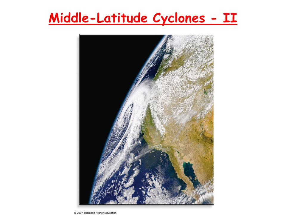 Review and Outline The polar front model (Norwegian model) of a developing mid- latitude cyclonic storm represents a simplified but useful model of how an ideal storm progresses through the stages of birth, maturity and dissipation.