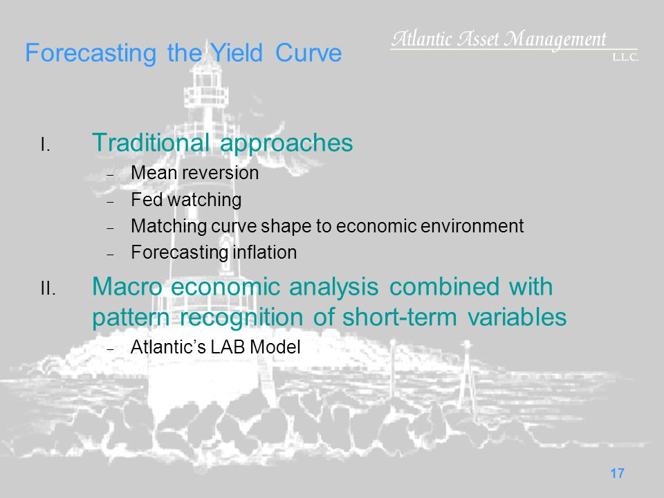 17 Forecasting the Yield Curve I.
