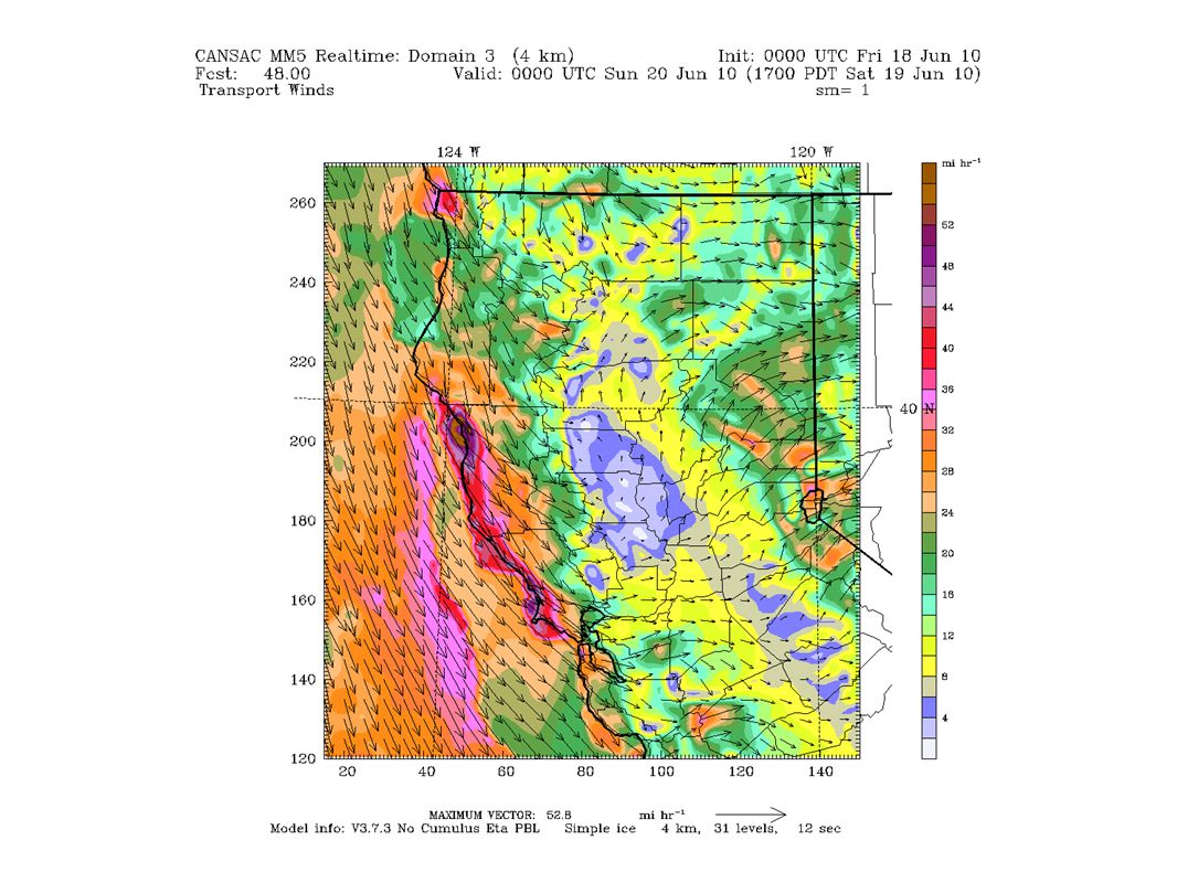 San Joaquin Valley Friday June 18 Surface Winds: The surface observations this morning show light NW flow to calm conditions throughout the SJV.