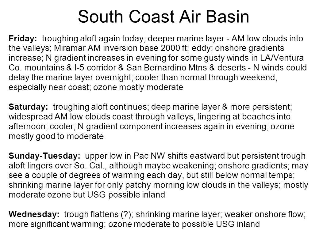 Thursday observations on model forecast