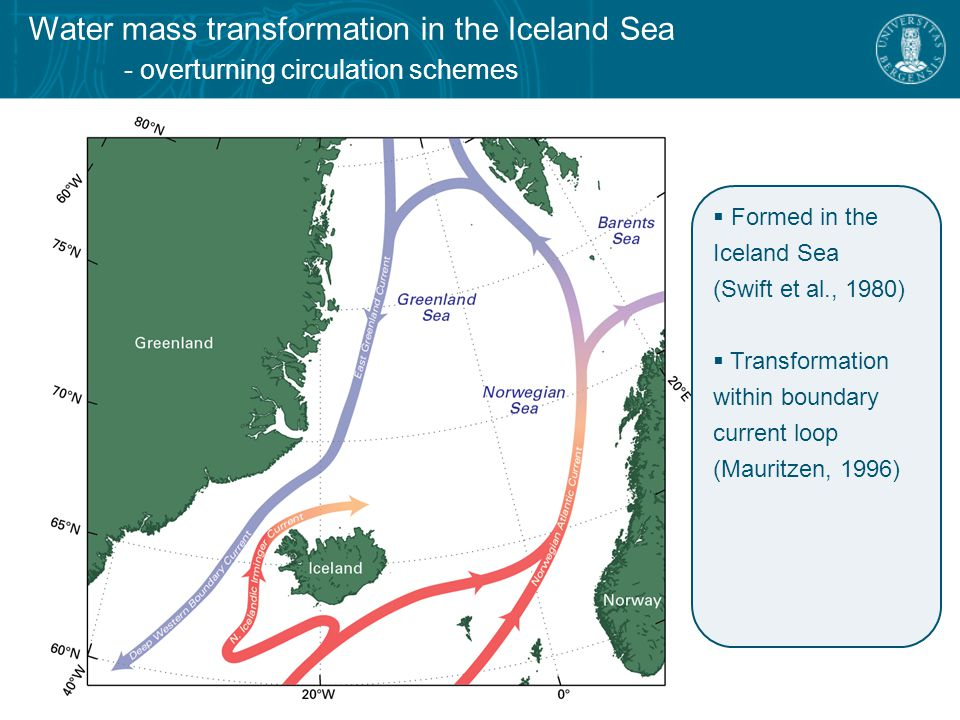 Water mass transformation in the Iceland Sea - the North Icelandic Jet – another source of overflow water.