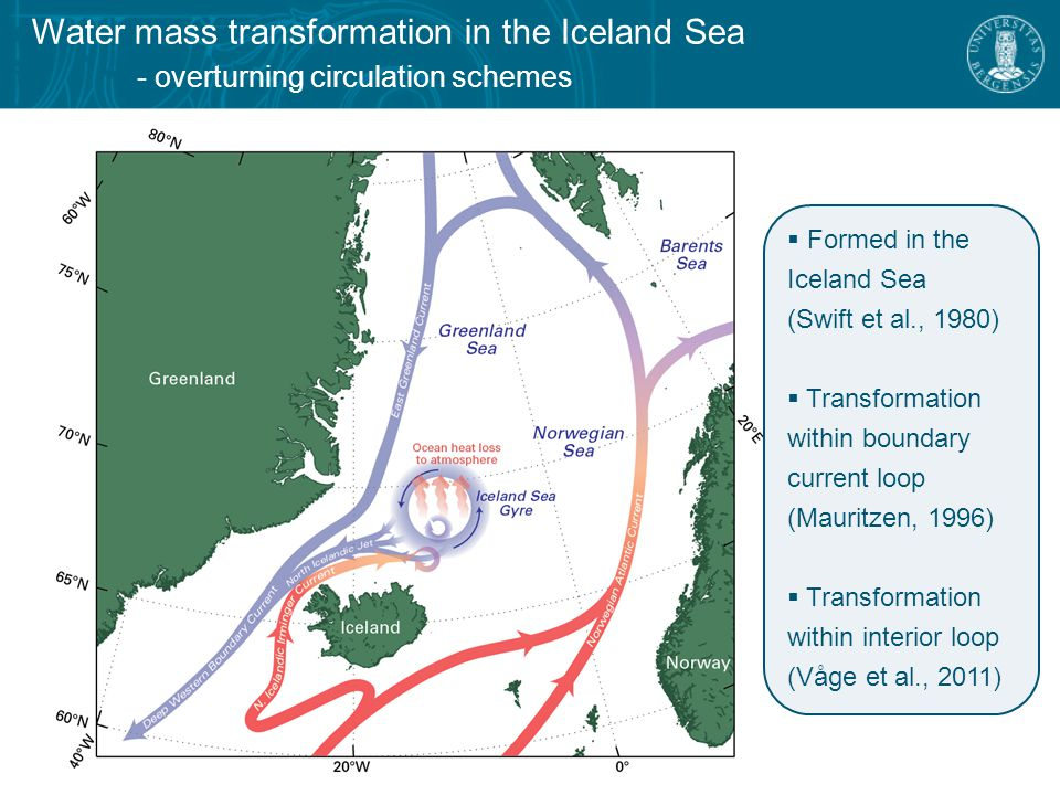 Water mass transformation in the Iceland Sea - climatological winter total turbulent heat flux from Moore et al.