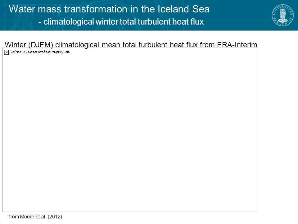 from Jónsson (2007)  Cyclonic circulation in the central Iceland Sea  Typical wintertime mixed layer depths about 150-200 m  Surface densities exceeding 27.8 kg\m 3 common in winter Surface circulation Water mass transformation in the Iceland Sea - circulation in the Iceland Sea