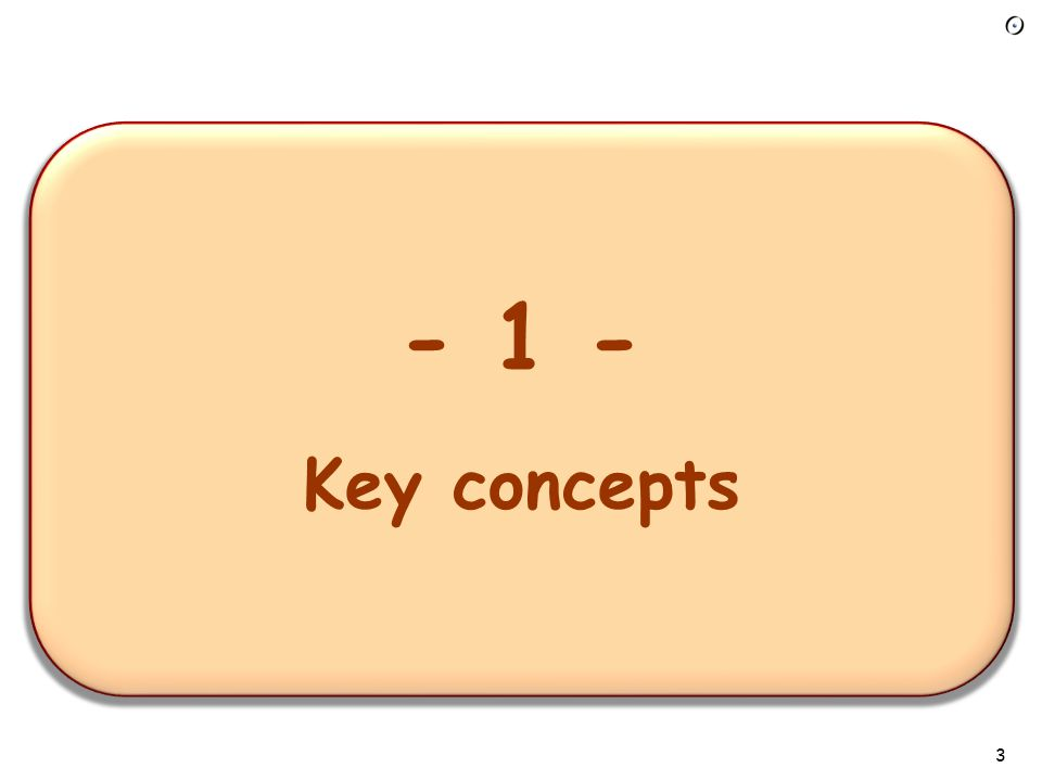 - 1 – Overview of the requirements task - 1 - Key concepts 3
