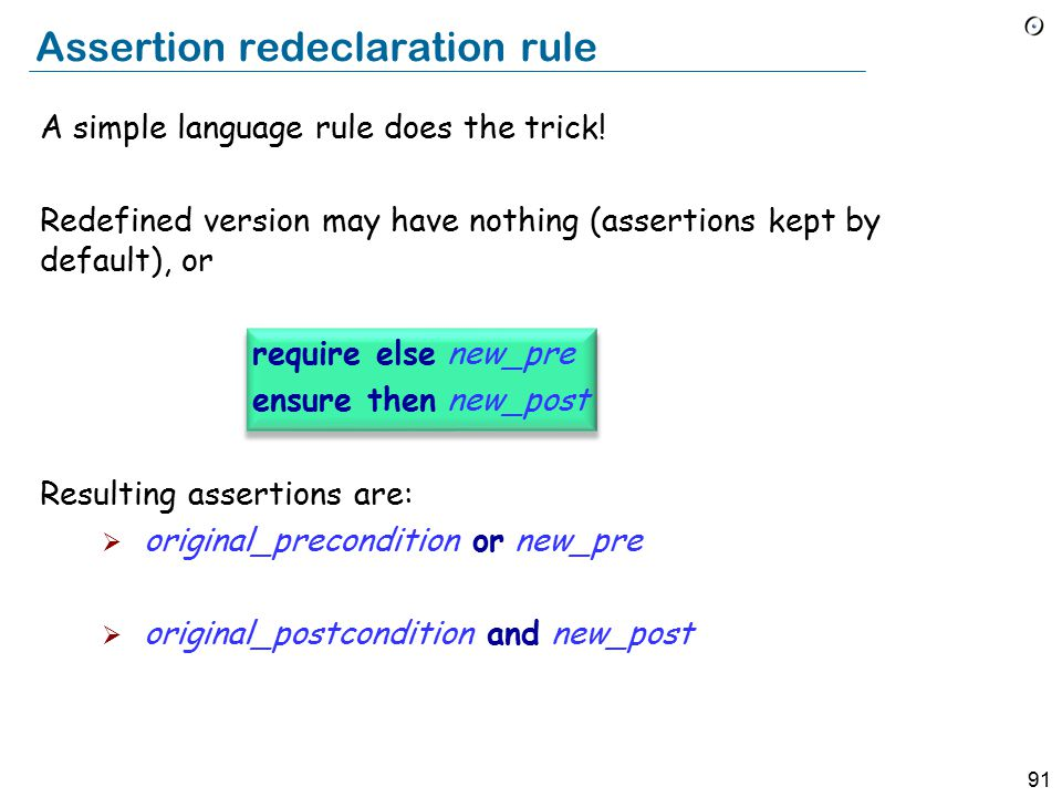 91 A simple language rule does the trick.