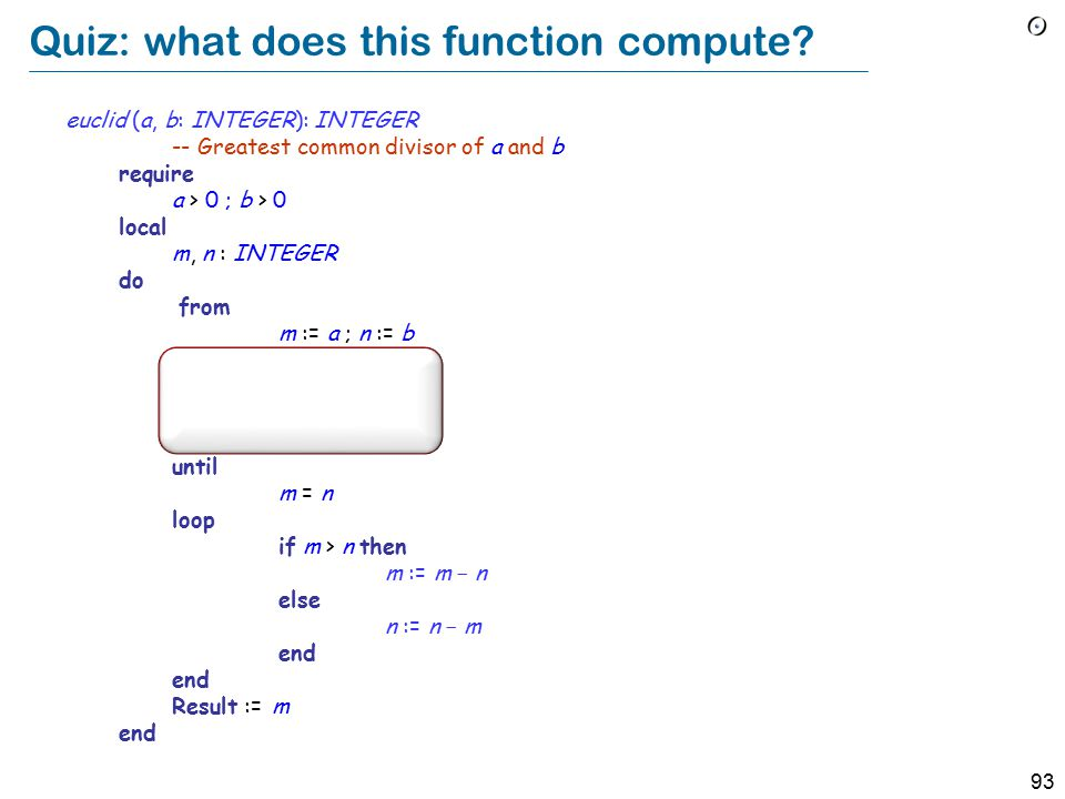93 Quiz: what does this function compute.