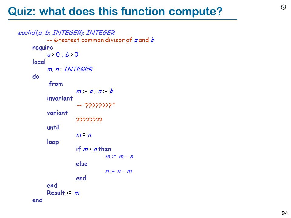 94 Quiz: what does this function compute.