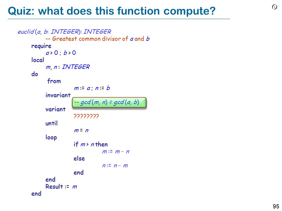 95 Quiz: what does this function compute.