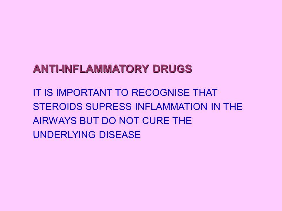Etken maddeIlaç adıVeriliş yoluDoz IVHydrocortisone2-4 mg/kgEvery 6 hr ORALPrednisone1-2 mg/kgmax 60-80 mg/day prednisolone INHALEDBeclamethasoneBeclaforteMDI250 mcq dipropionateBecotideMDI50 mcq BudesonidPulmicortturbahaler100-200 mcq PulmicortMDI50-100 mcq FluticasoneFlixotide50-125 mcq propinateFlixotidediscus100 mcq