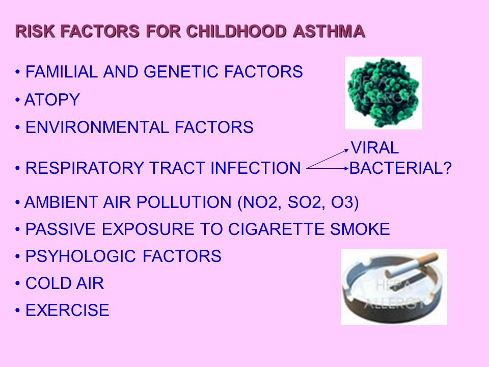 RISK FACTORS FOR CHILDHOOD ASTHMA NASAL POLYPS ASPIRIN  REACT ALSO TO TARTARAZINE YELLOW URTICARIA (INHIBITS CYCLOOXYGENASE PATWAY) PRESERVATIVE (SULFIDES) LETTUCE FRESH SALAD DRIED FRUITS DRIED POTATOES WINE SOFT DRINKS