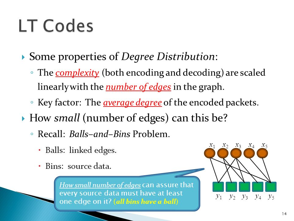  Some properties of encoder: ◦ Encoder throws edges into source data at random.