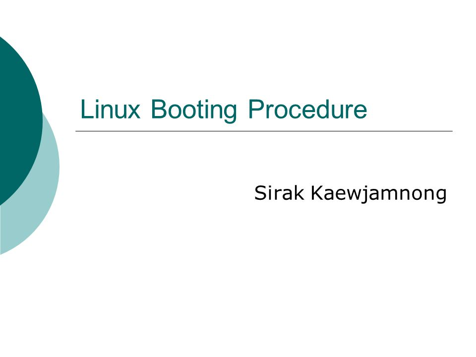 2 How Linux boot?