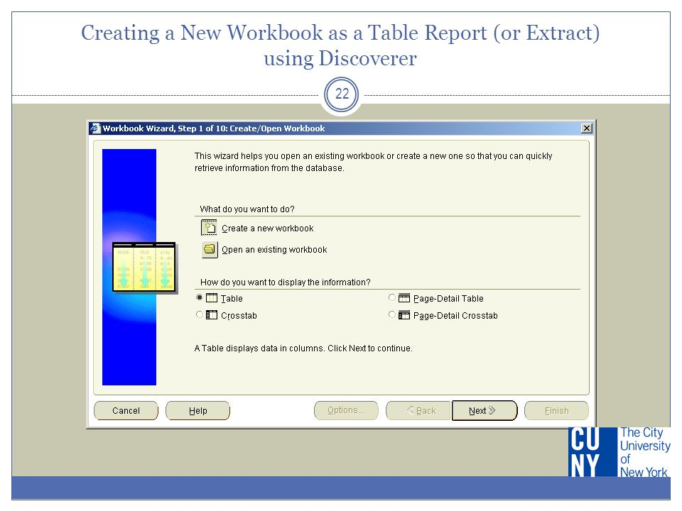 Creating a Layout for the Table Report 23