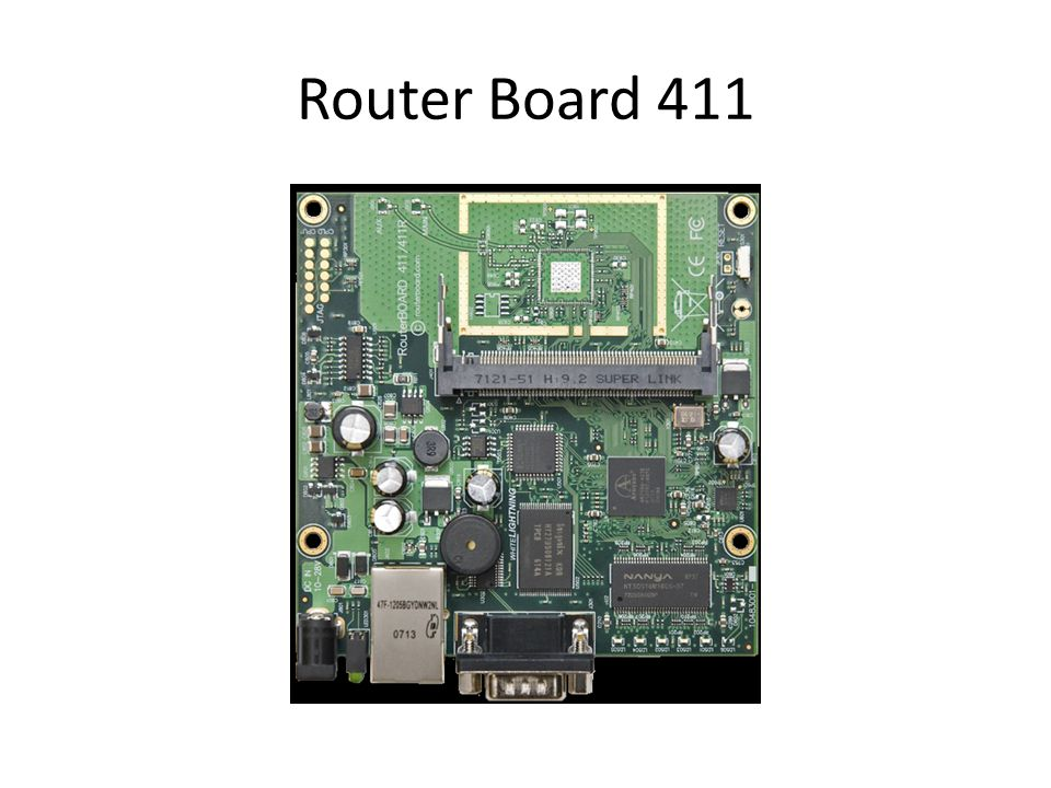 CPU:Atheros AR7130 300MHz network processor Memory: 32MB DDR sDRAM onboard memory Boot Loader: RouterBOOT Data Storage: 64MB onboard NAND memory Chip Ethernet: One 10/100 Mbit/s miniPCI: One MiniPCI Type IIIA/IIIB slot Power options: Power over Ethernet: 12..28V DC Power Jack: 12..28V DC Power Consumption: ~3W without extension cards, maximum - 12W