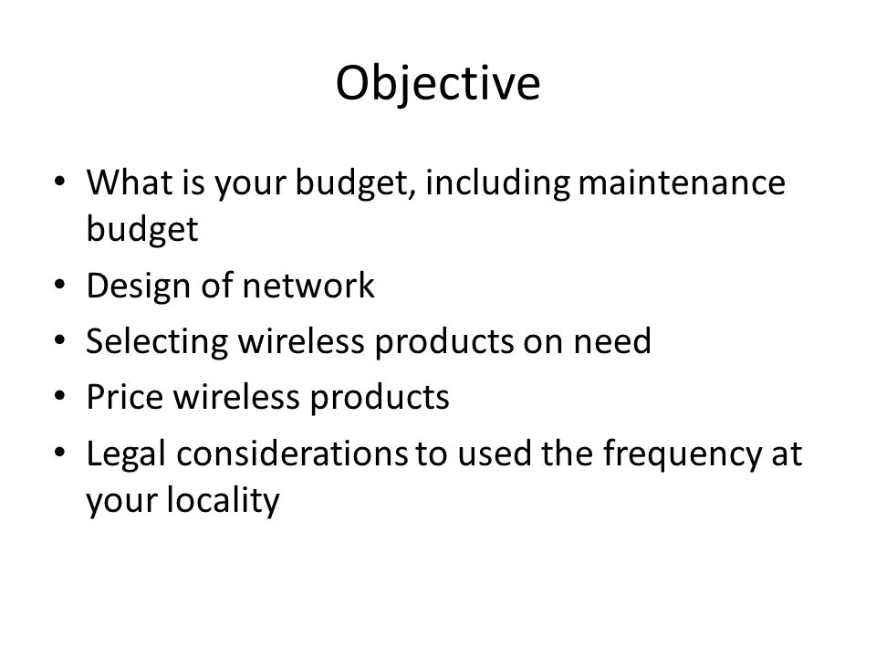 Agenda Benefit Selecting standard and hardware Types of Wifi hardware Features to consider Some recommended Products